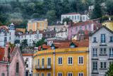 Colorful homes of Sintra, colorful town near Lisbon, Portugal - 231702439