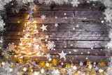Christmas decoration on wooden background - 231703820