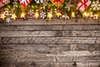 Christmas decoration on wooden background - 231704614