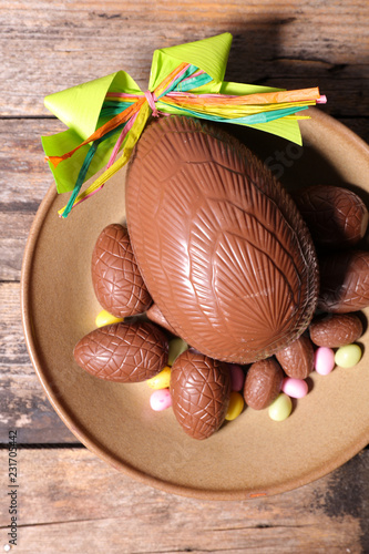 chocolate egg easter