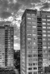 Plattenbau Hochhäuser