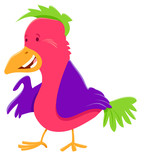 funny colorful bird cartoon character - 231713275