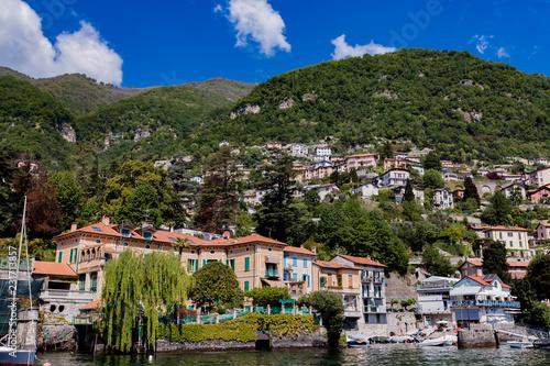Town Moltrasio on Lake Como in Italy