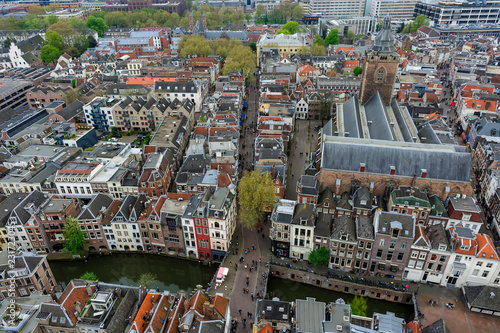 Poster aerial view of utrecht
