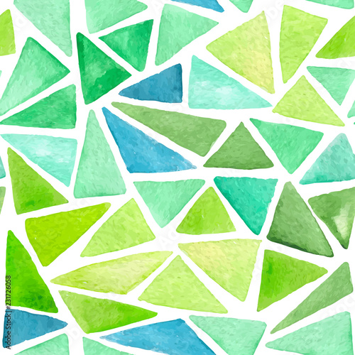 fototapeta na ścianę Abstract pattern with green triangles