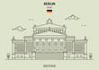 Konzerthaus in Berlin, Germany. Landmark icon