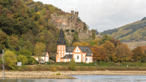 Views of the Middle Rhine River in Germany - Fortress Castles