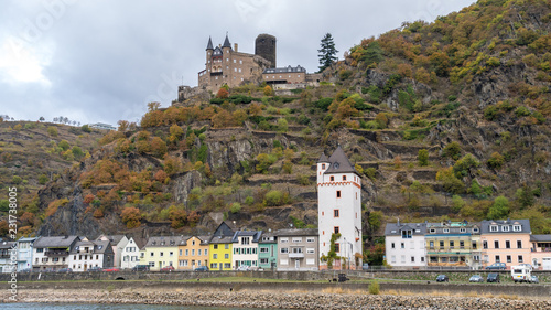Views from Middle Rhine River cruise in the Fall