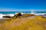 ocean wave breaking on rocky coast in Cadiz - 231743657
