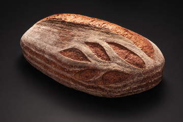 Homemade whole wheat sourdough freshly baked bread