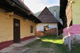 Vlkolinec - slovak village in central Slovakia listed on UNESCO World Heritage list