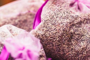 Grains de lavande en sachet