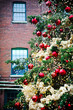 Christmas tree in Distillery Historic District, Toronto, Canada