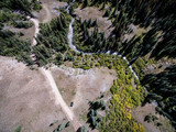 Camping in the Colorado Rocky Mountains From an Aerial/Drone View - 231774639