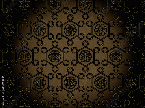 seamless floral decorative pattern - 231779898
