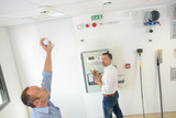 testing the smoke detector - 231785643