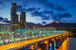 Leinwanddruck Bild - night view of seoul by han river in south korea