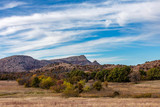 Landscape at the Wichita Mountains Wildlife Refuge, located in southwestern Oklahoma - 231793609