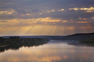 Oka river near Polenovo estate. Tula oblast. Russia