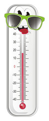 thermometer, degree, temperature, weather, celsius, scale, medicine, hydrometeorological center, face, happy, sunglasses © Djessi85