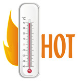 thermometer, degree, temperature, weather, celsius, scale, medicine, hydrometeorological center, fire, hot, summer - 231812892