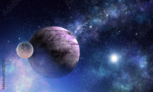Space planets and nebula - 231815036