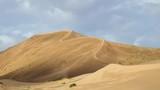 Large barkhan in Mongolia sandy dune desert Mongol Els. Govi-Altay, Mongolia - 231824057