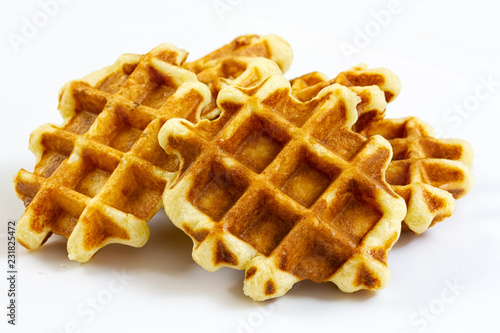 Wall mural waffles isolated on white background