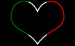 Italien Herz, Freisteller, cut-out, mot