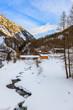 Leinwanddruck Bild - Mountains ski resort Solden Austria