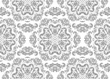 Orient classic silver pattern. Seamless abstract background with vintage elements. Orient background - 231839041