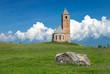 canvas print picture - Kirche St. Kathrein, Hafling bei Meran, Südtirol