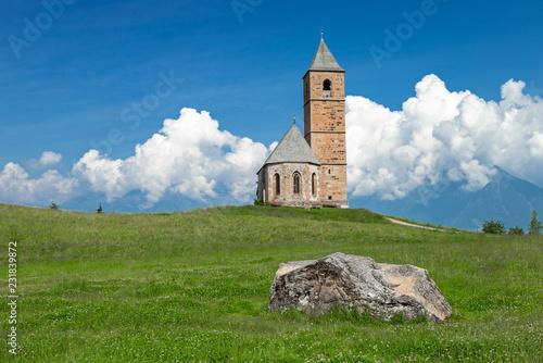 canvas print picture Kirche St. Kathrein, Hafling bei Meran, Südtirol
