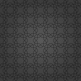 Seamless dark ornament in arabian style. Geometric abstract background. Pattern for wallpapers and backgrounds - 231841272