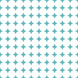 Seamless geometric pattern. Modern ornament with blue stars. Geometric abstract pattern - 231841896