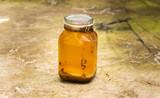 Jar of used cooking oil