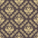 Orient classic pattern. Seamless abstract background with vintage elements. Orient brown and golden background - 231844244