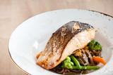 salmon with buckwheat noodle - 231856098
