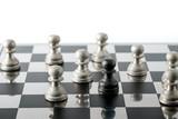 Chess business concept, leader teamwork & success - 231856422