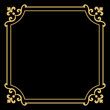 Decorative frame Elegant vector element for design in Eastern style, place for text. Floral golden border. Lace illustration for invitations and greeting cards. - 231859008