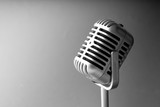 Retro style microphone in party or concert - 231860886