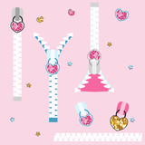 Set of fashion glitter zippers. Cute childish elements. Vector hand drawn illustration. - 231866468