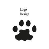 dog paw print logo - 231870431
