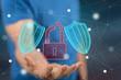 Leinwanddruck Bild - Concept of cyber security