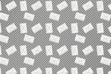 Viele Briefe auf transparentem Hintergrund - 231874497