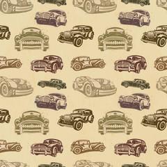 Seamless vintage car background.