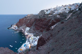Early morning blue hour in Oia, Santorini. - 231879017