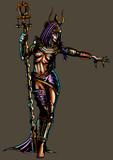 Fantasy egyptian sorceress woman