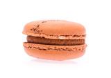Orange macaron isolated on white background - 231884232