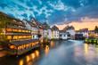 Leinwanddruck Bild - Petite France in Strasbourg, France